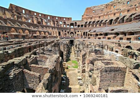 Colosseo interni Roma Italia sereno estate Foto d'archivio © AndreyPopov