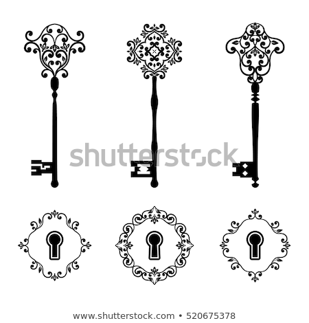 Vintage Key Filigree Medieval Color Vector Stock photo © pikepicture