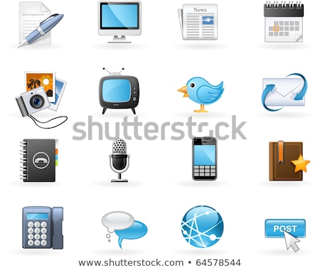 Envelope and Book with Bookmark Icons Set Vector Stock photo © robuart