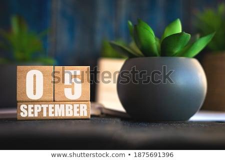 Cubes calendar 5th September Stock photo © Oakozhan