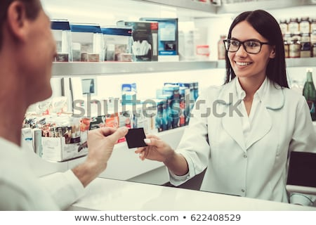 kadın · kredi · kartı · süpermarket · iş - stok fotoğraf © dolgachov