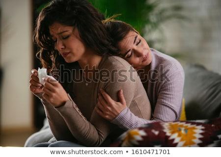 женщину утешительный печально кавказский девушки любви Сток-фото © Lopolo