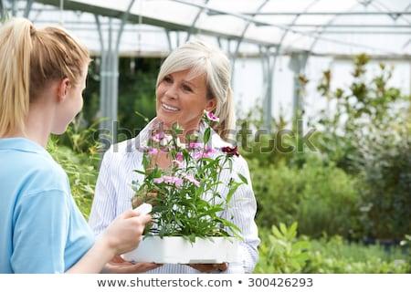 Personale impianto consiglio femminile cliente giardino Foto d'archivio © HighwayStarz