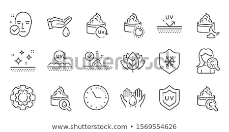 Sunburn Icon Vector Outline Illustration Stock photo © pikepicture