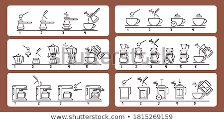 Coffee Drink Boiling in Kettle Isolated Machine Stock photo © robuart