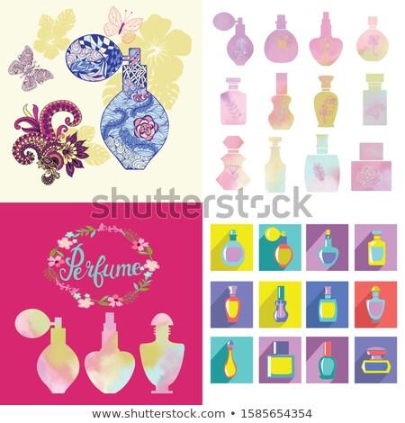 Beautiful background and symbol of fragrances, toilet water Stock photo © Margolana
