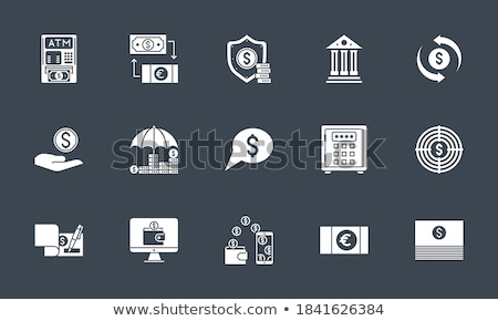 Funds Protect related vector glyph icon. Stock photo © smoki