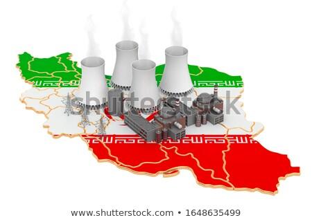 iran and radiation on white background. Isolated 3d illustration Stock photo © ISerg