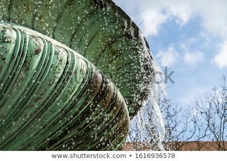 Fuente Munich Universidad agua edificio ciudad Foto stock © manfredxy
