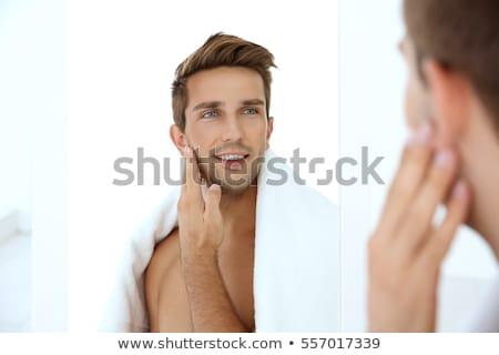 Tradicional ritual barba edad estilo barbero Foto stock © antonio_gravante