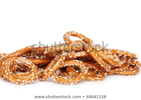 Zoute krakelingen zout mand maaltijd Stockfoto © grafvision