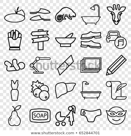 Giraffe icon vector schets illustratie teken Stockfoto © pikepicture