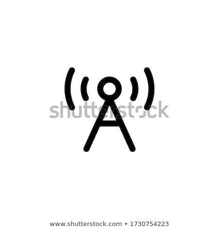 Satelliet radio antenne icon schets illustratie Stockfoto © pikepicture