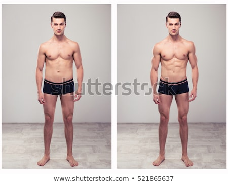 Man Before And After From Fat To Slim Concept Stock photo © AndreyPopov