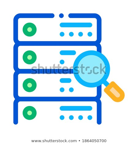 particle research algorithm icon vector outline illustration Stock photo © pikepicture