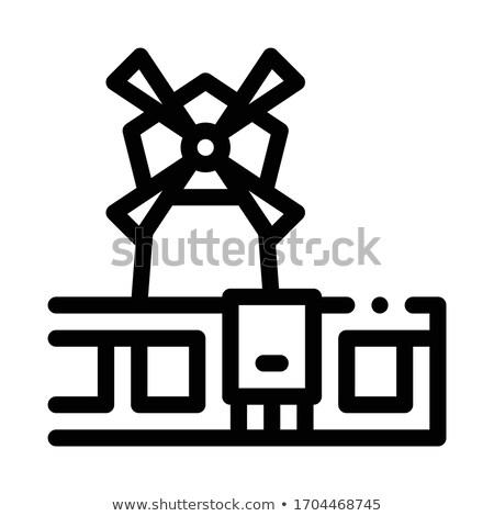 Ventoso francês ícone vetor ilustração Foto stock © pikepicture