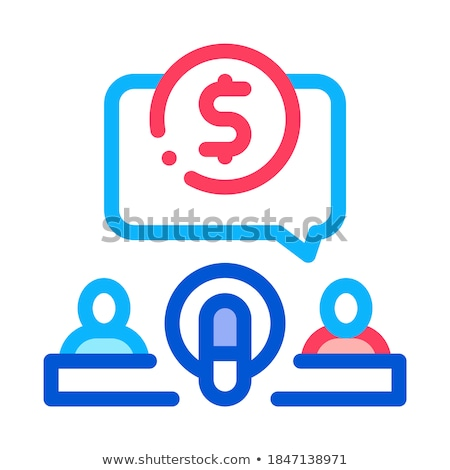 Hosts Microphone Dollar Icon Outline Illustration Stock photo © pikepicture