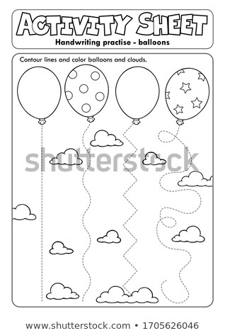 Activity sheet handwriting practise topic 1 Stock photo © clairev
