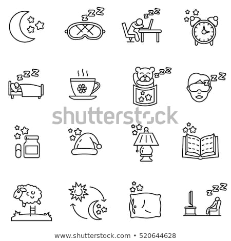 Healthy sleeping - line design style icons set Stock photo © Decorwithme