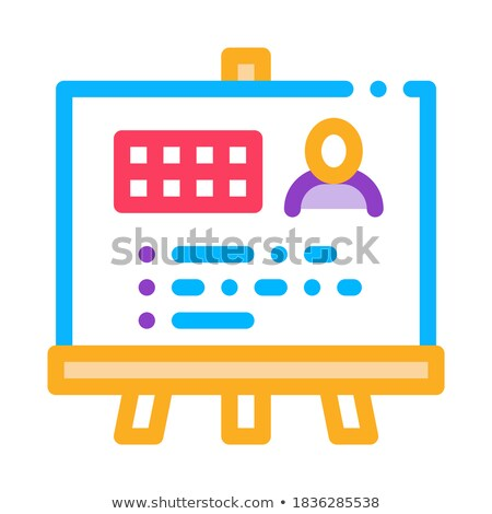 Man Result Board Icon Vector Outline Illustration Stock photo © pikepicture