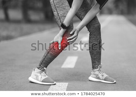 Bacaklar adam spor salonu egzersiz cilt Stok fotoğraf © Jasminko