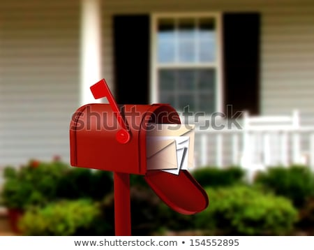 красный почтовый ящик письме почтовый ящик Сток-фото © stoonn