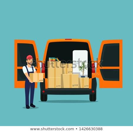 vector delivery cargo van stock photo © mechanik