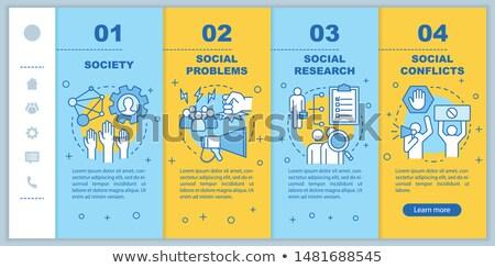 Társadalom app interfész sablon metaforák válás Stock fotó © RAStudio