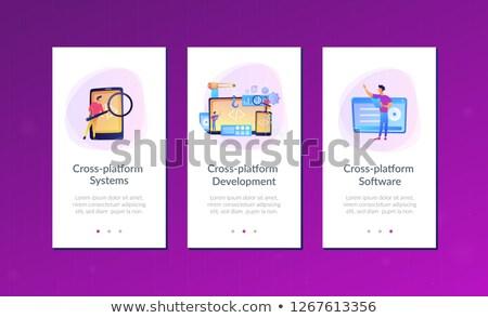Cross-platform software environments app interface template. Stock photo © RAStudio