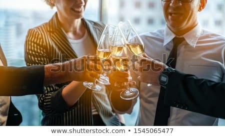 Toast · succès · image · cristal · verres · plein - photo stock © pressmaster