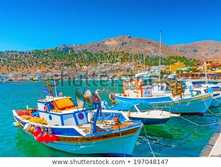 fishing boats in the harbor of kos stock photo © wjarek