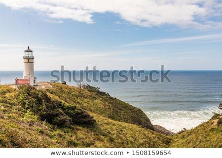 Stock photo:  Washington State Coast from the North Head Lighthouse