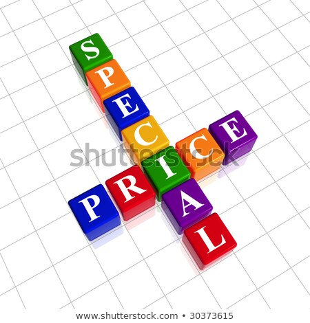 especial · preço · cartas · 3D · cor - foto stock © marinini