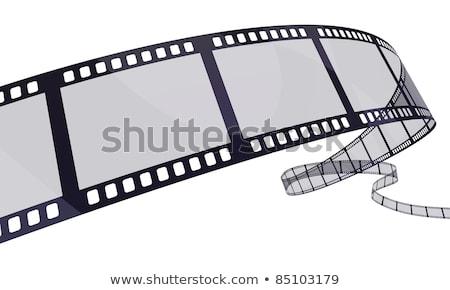 Purple Film Reel изолированный белый искусства фильма Сток-фото © cidepix