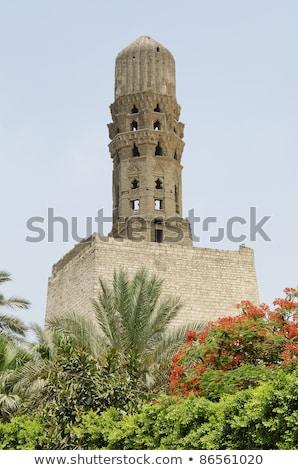 Minaret Cairo Egypte architectuur moslim oude Stockfoto © travelphotography
