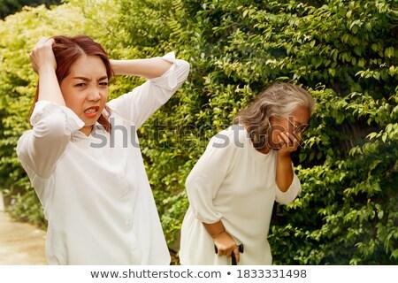 пар больным женщину травяной Spa Сток-фото © lovleah