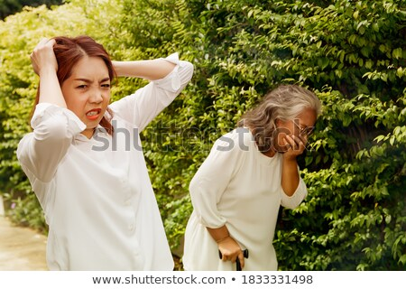 Steam Factial or sick woman Stock photo © lovleah