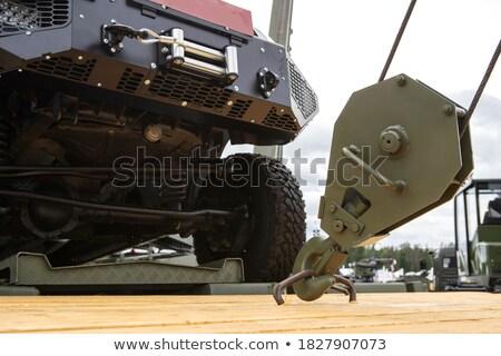 Cephane subay tabanca beyaz el Stok fotoğraf © pongam
