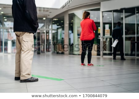 cola · aeropuerto · largo · personas · moderna · internacional - foto stock © leeser