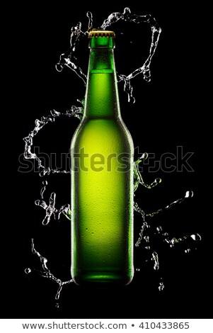 water · fles · zwarte · licht · gezondheid - stockfoto © Raduntsev