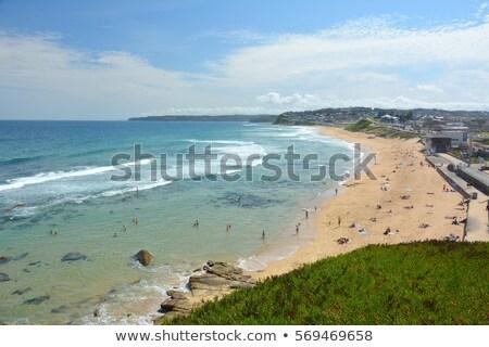 Bár tengerpart Newcastle Ausztrália napos idő Stock fotó © jeayesy