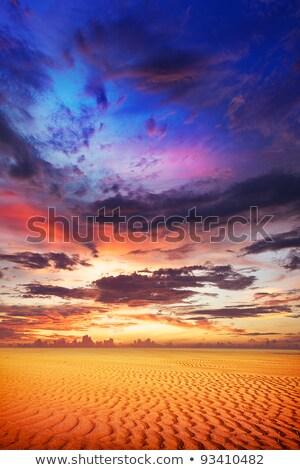 spectacular sunset over the desert vertical composition stock photo © moses
