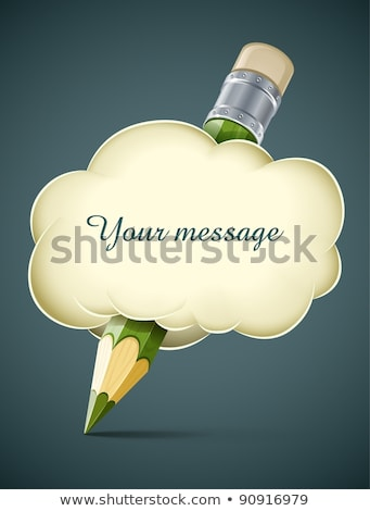 Kreatív művészi ceruza felhő izolált fehér Stock fotó © LoopAll