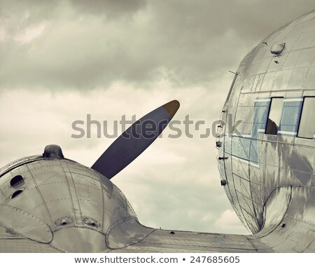 nostalgic propeller aircraft Stock photo © prill