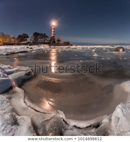 Mar báltico inverno neve gelo pedra Foto stock © LianeM
