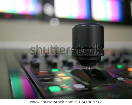 Foto d'archivio: Digital Television Production Concept Remote Control Tv