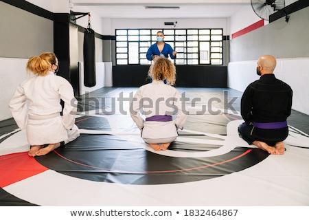 Adam judo spor salonu sınıf erkek Stok fotoğraf © photography33