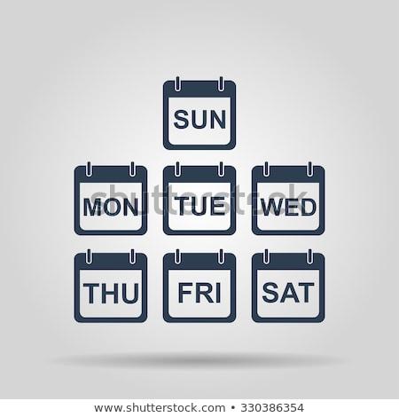 набор календаря иконки день аннотация дизайна Сток-фото © AnnaVolkova