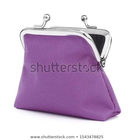 üres · piros · pénztárca · női · kezek · izolált - stock fotó © mahout