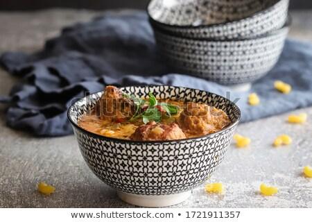 Sopa tazón sopa de tomate rojo placa Foto stock © stevemc